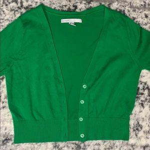 Green Crop Cardigan Long Sleeved